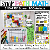 Snap Cube Activities PATH MATH Zoo Animals