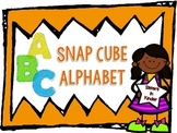 Snap Cube Alphabet -  in Black and White OR Color
