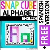Snap Cube Alphabet Mats {English plus Free Spanish version}