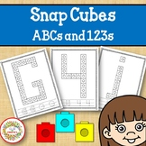 Snap Cube Alphabet and Numbers Worksheets