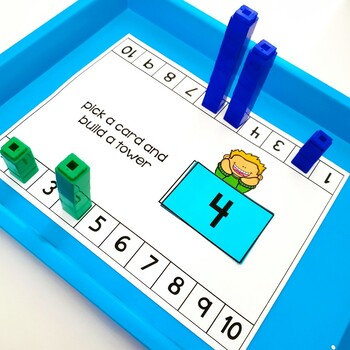 Math Centers Connecting Cubes Number Sense And Addition Subtraction