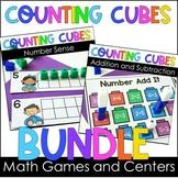 Kindergarten Math Games and Centers Snap Cube BUNDLE