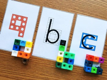 Alphabet Activities  Alphabet Snap Block Center - Alphabet Cube Letters