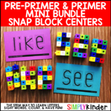 Sight Word Games:  Pre-Primer and Primer Snap Block Center
