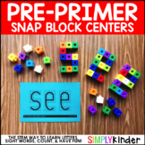 Pre-Primer Sight Words - Snap Block Center