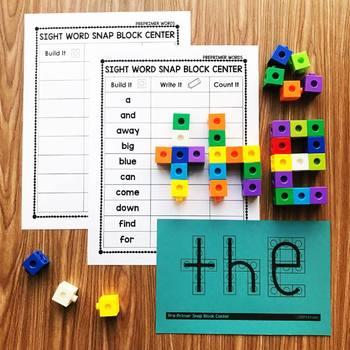 Pre-Primer Sight Words - Snap Block Center