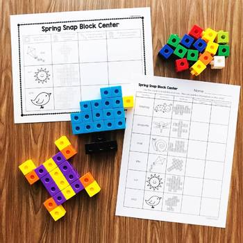 Spring Activities - Spring Snap Block Center