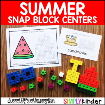Summer Math, Summer Snap Block Center, Math Center, Counti