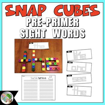 Snap Cubes Sight Words Pre-Primer