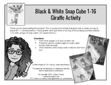 Snap Cube Giraffe Number Activity *Black and White Version*