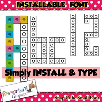 Snap Cube Installable Font