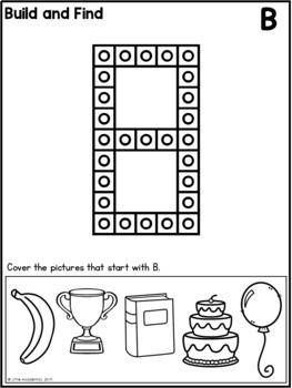 Snap Cube Letters - Fine Motor Skills Worksheets