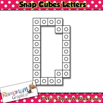 Snap Cube Letters clip art