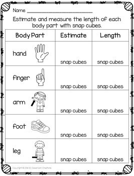 Snap Cube Measuring