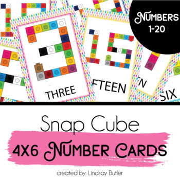 Snap Cube Number Cards (Numbers 0-20)