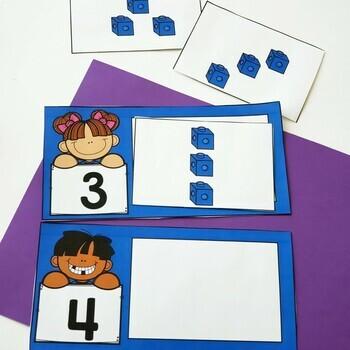 Snap Cube Number Sense Centers