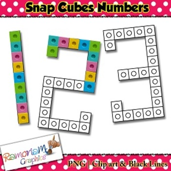 Snap Cube Number clip art