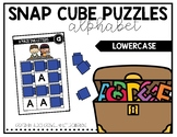 Snap Cube Puzzles: Alphabet Lowercase
