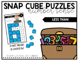 Snap Cube Puzzles: Less Than