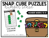 Snap Cube Puzzles: Number Words
