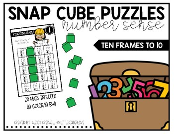 Snap Cube Puzzles: Ten Frames to 10