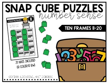 Snap Cube Puzzles: Ten Frames to 20
