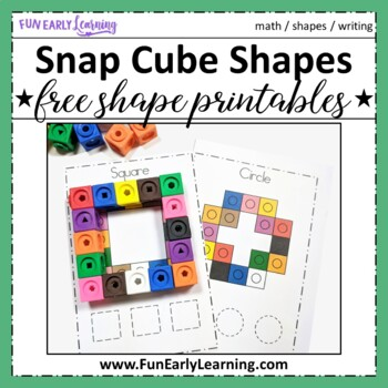 Snap Cube Shapes | Free Shapes Printables for Preschool and Kindergarten