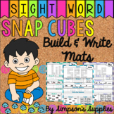 Snap Cube Sight Word Build and Write Mats