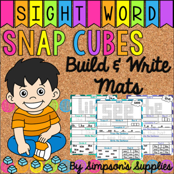 Sight Word Mats: Snap Cube Edition