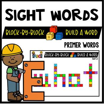 Snap Cubes Sight Words Activities : Snap Cube Activities (PRIMER WORDS)
