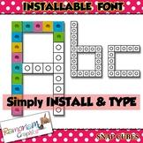 Snap Cube font (INSTALLABLE)
