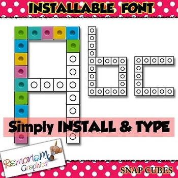 Snap Cube font (INSTALLABLE)
