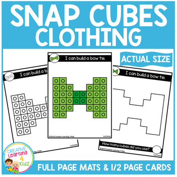 Snap Cubes Activity - Clothing