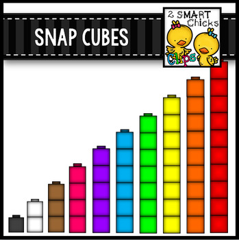 Snap Cubes Clip Art {Math Center Manipulatives}