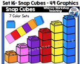 Snap Cubes Clip Art Set - Whimsy Workshop Teaching