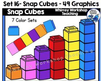 Snap Cubes Clip Art Set - Whimsy Workshop Teaching