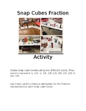 Snap Cubes Fraction Activity instruction sheet (editable)