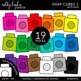 Snap Cubes Clipart {A Hughes Design}