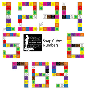 Snap Cubes Numbers 1-9