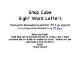 Snap Cubes Sight Words