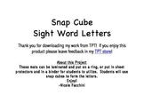 Snap Cubes Sight Words