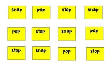 Snap, Pop, Stop! Word Builder Board Game K-5 B2S