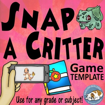 Snap a Critter Bomb Game Template
