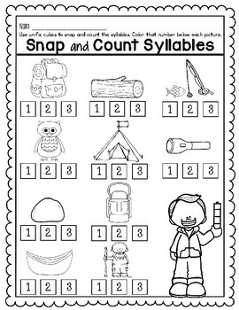 Snap and Count Syllables {Camping Edition}