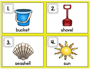 Snap and Count Syllables {Summer Edition}