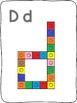 Snap cubes - A to Z letter formation activity mats - without images