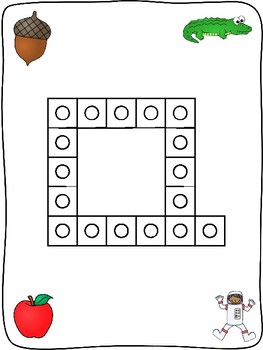 Snap cubes - A to Z letter formation activity mats