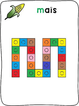 Snap cubes - Fall / L'automne - French - letter formation activity mats