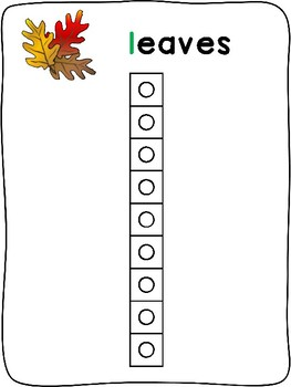 Snap cubes - Fall letter formation activity mats