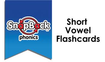 SnapBack Phonics Flashcards: Short Vowels